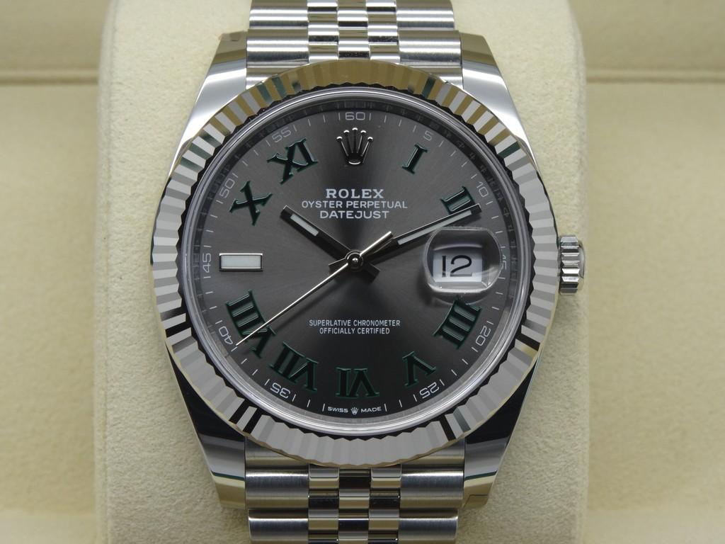 FSOT Rolex Datejust 41 126334 Slate Green Roman WIMBLEDON